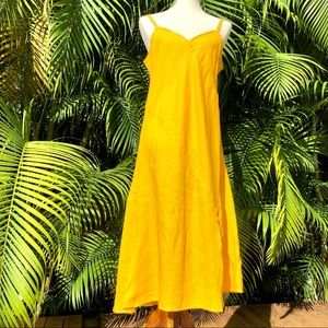 Jams World Hawaii strappy linen dress yellow med